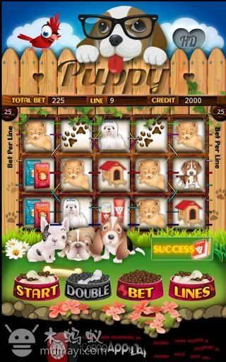 可爱的小狗老虎机cute puppy slot machine hd v1.0.